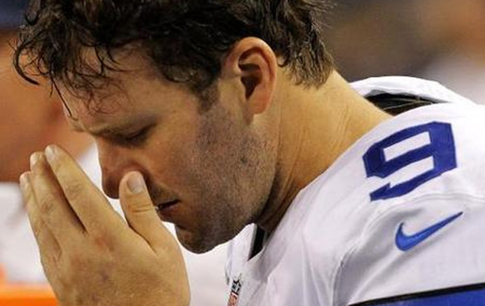 Tony Romo after losing another game with the Dallas Cowboys.