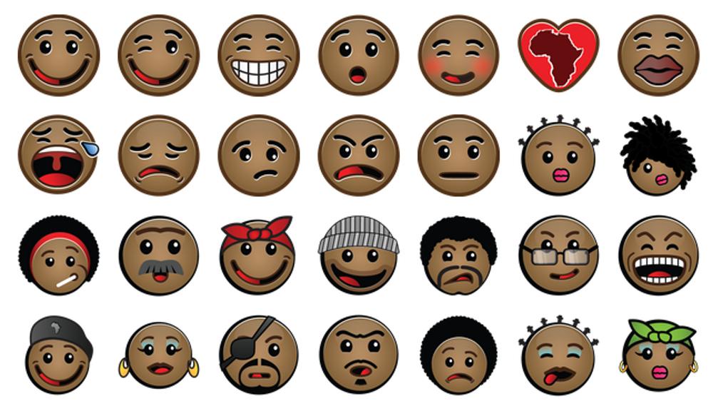 African emojis, African emoticons