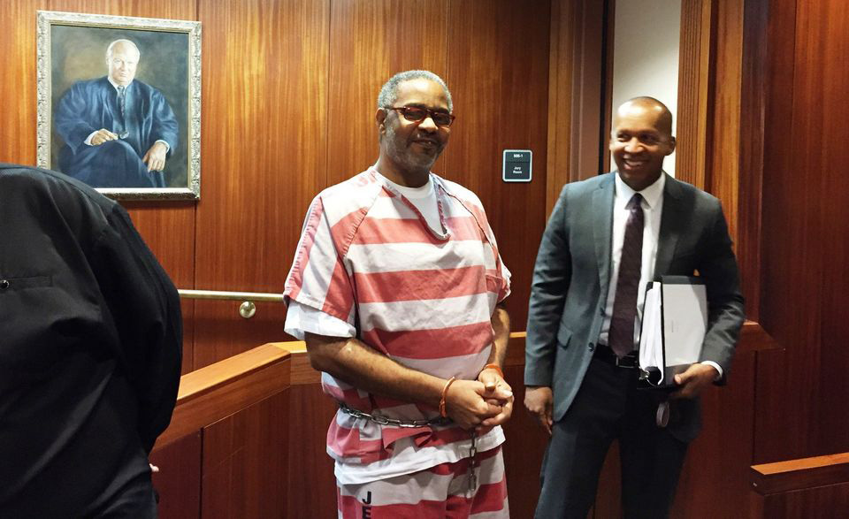 Bryan Stevenson and Mr Hinton in an Alabama Court still controlled by whites.