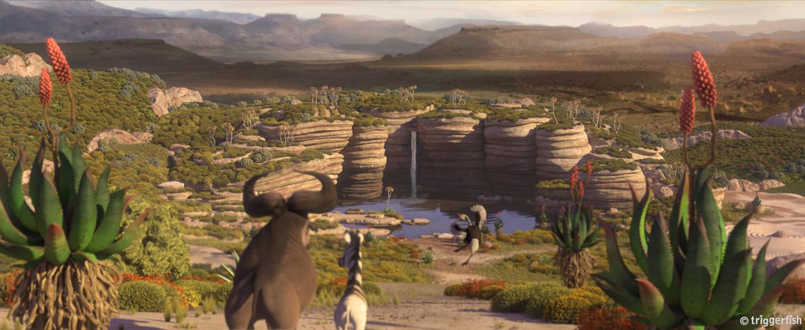 A screenshot from the Triggerfish film Khumba.