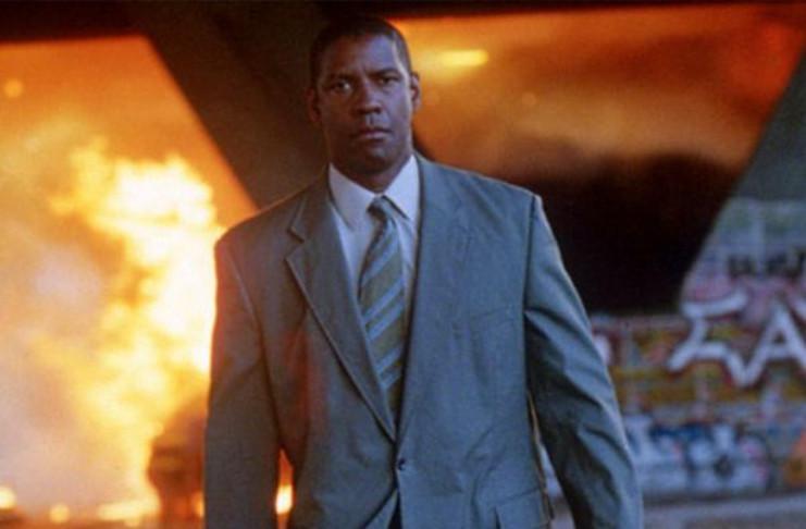 man on fire explosion, denzel washington