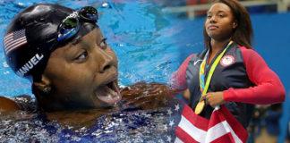 Simone Manuel rio olympics, African American, Black swimmer gold medal