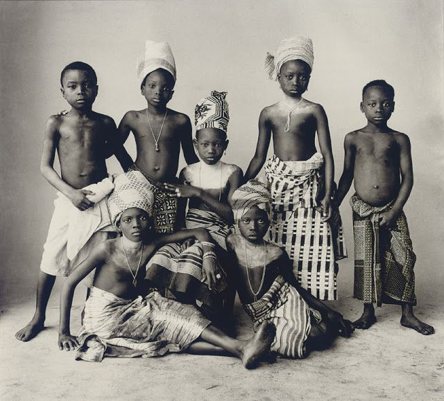 Pre-colonial African Children receiving an education at a Temple.